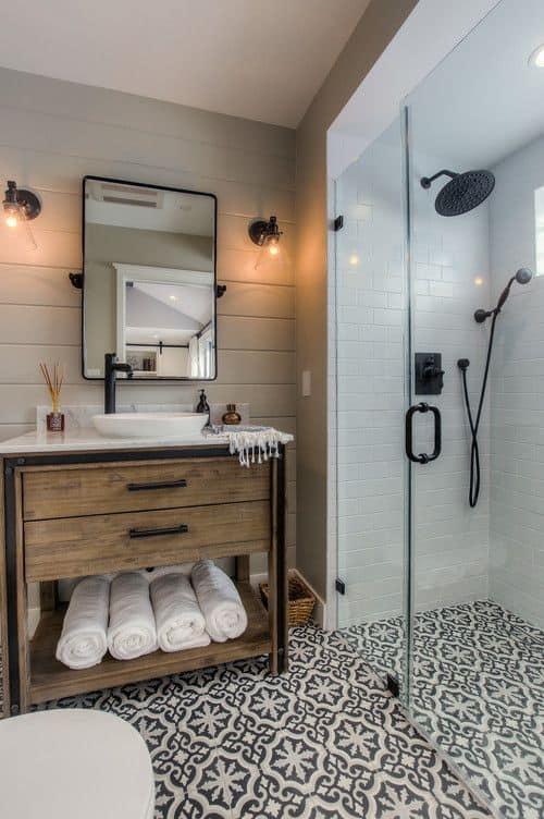 small bathroom mosaic tiles