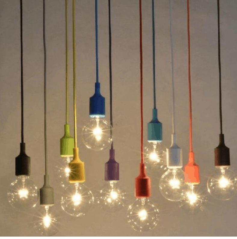 kaka colourful bulb screed lighting