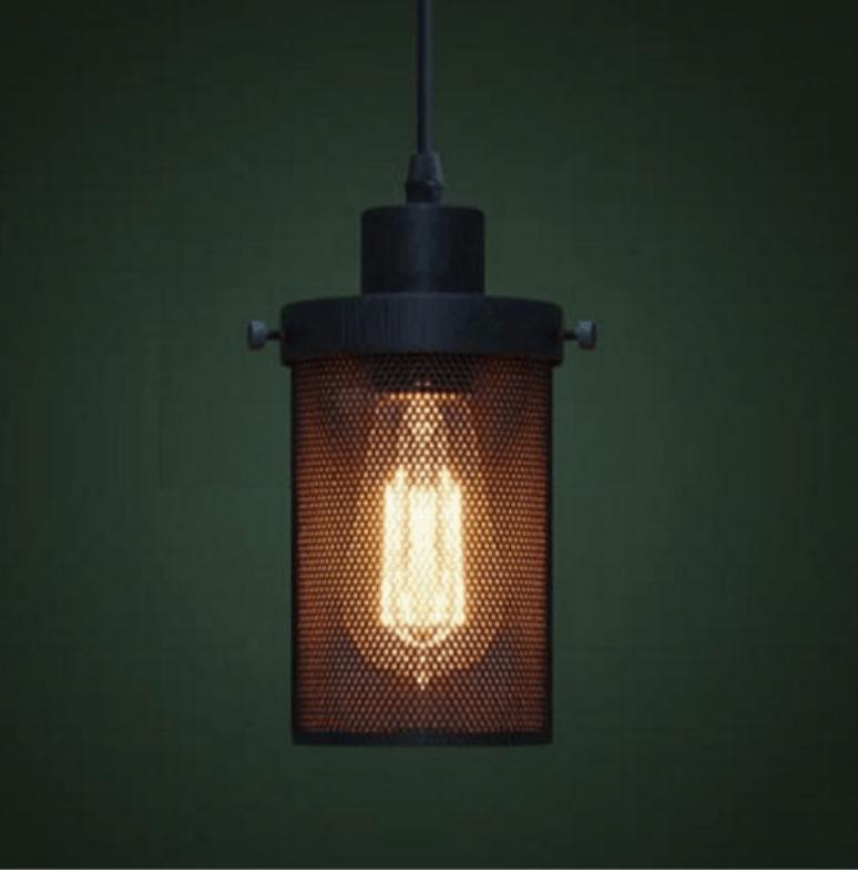 ANSELM Perforated Metal Barrel Lamp