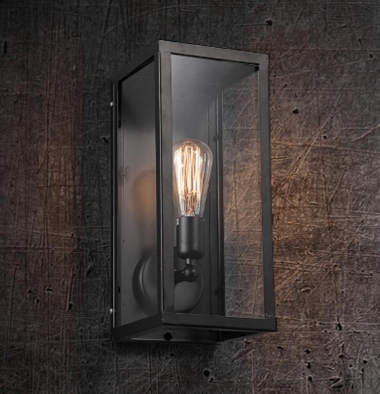 BÖRJE Pandora Glass Box Wall Lamp