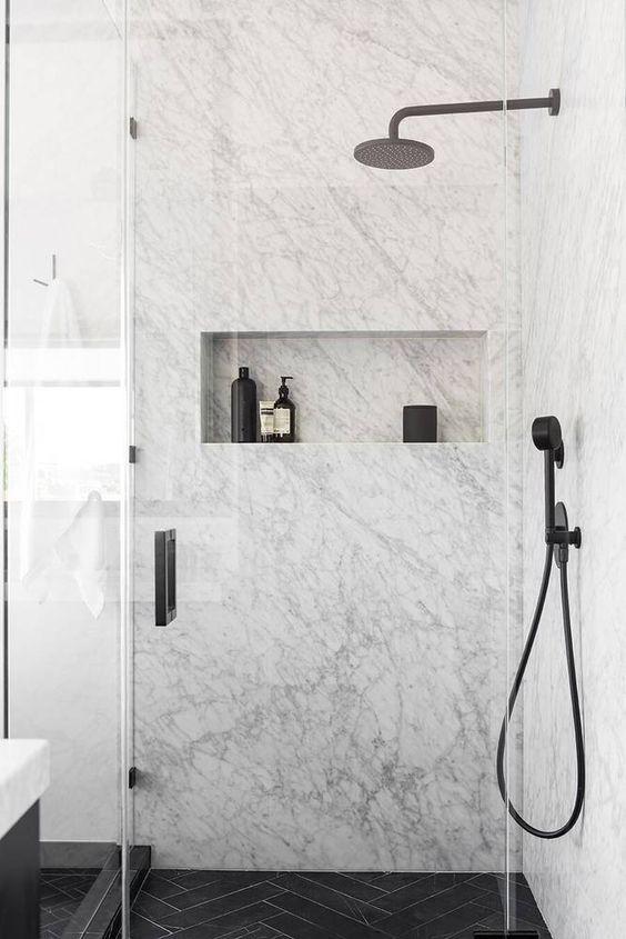 marble toilet black and white