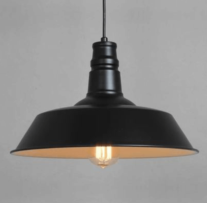 modern sleek black hanging lamp screed
