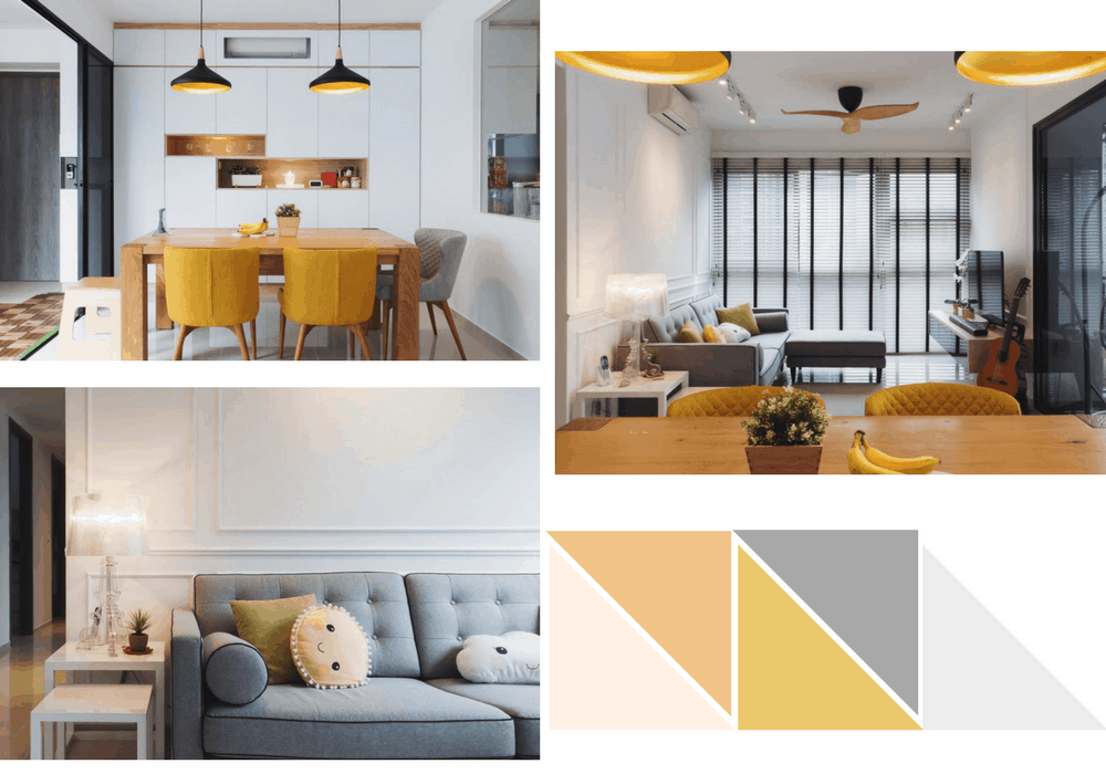 yellow grey hdb modern