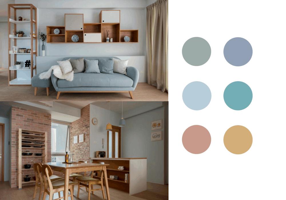 calming pastels interior design hdb singapore