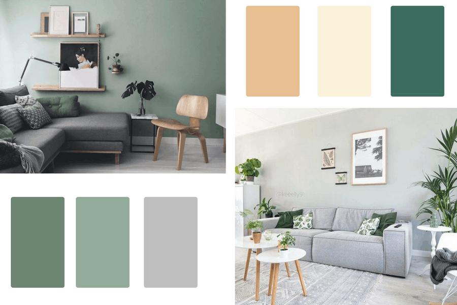 green palette interior design