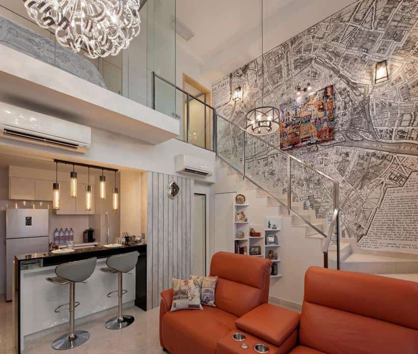 Phenomenal 10 Condos With Impressive Ceilings And Stunning Pendant Interior Design Ideas Clesiryabchikinfo
