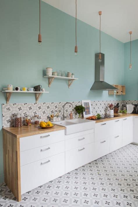turquoise kitchener lighting mosaic tiles