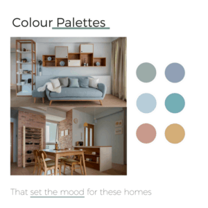 Colour Palettes that set the mood for these houses
