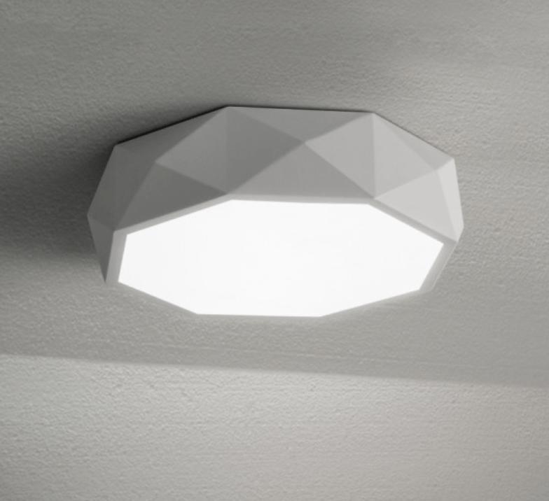 geometric ceiling light screed