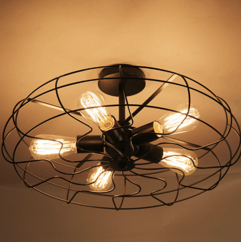 lars retro caged fan lamp screed