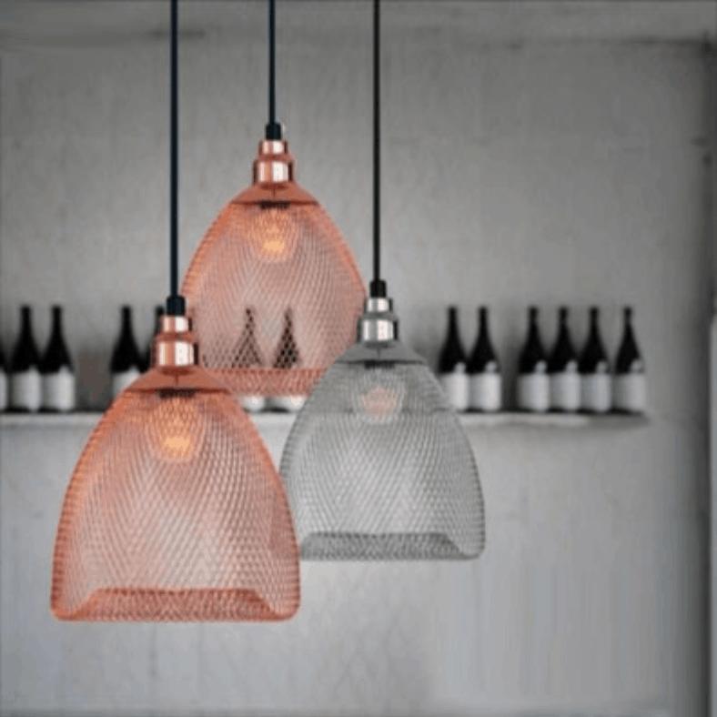 vendela chainmail mesh hanging lamp screed