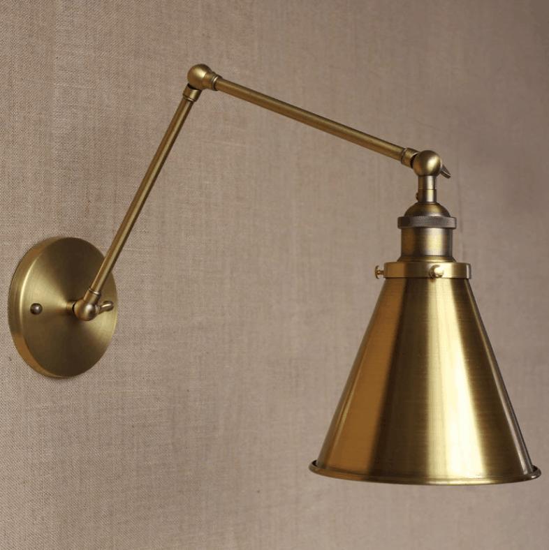 bronberg vintage twin-arm wall lamp