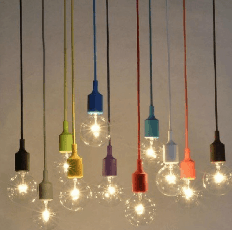 KAKA colourful single bead bulb holder