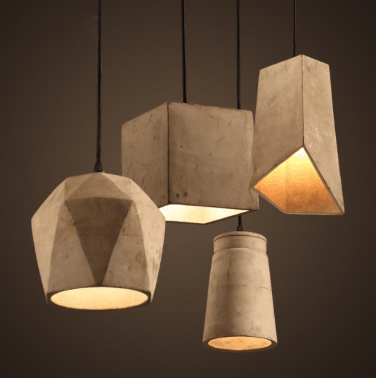 ERNST cement concrete pendant lamp