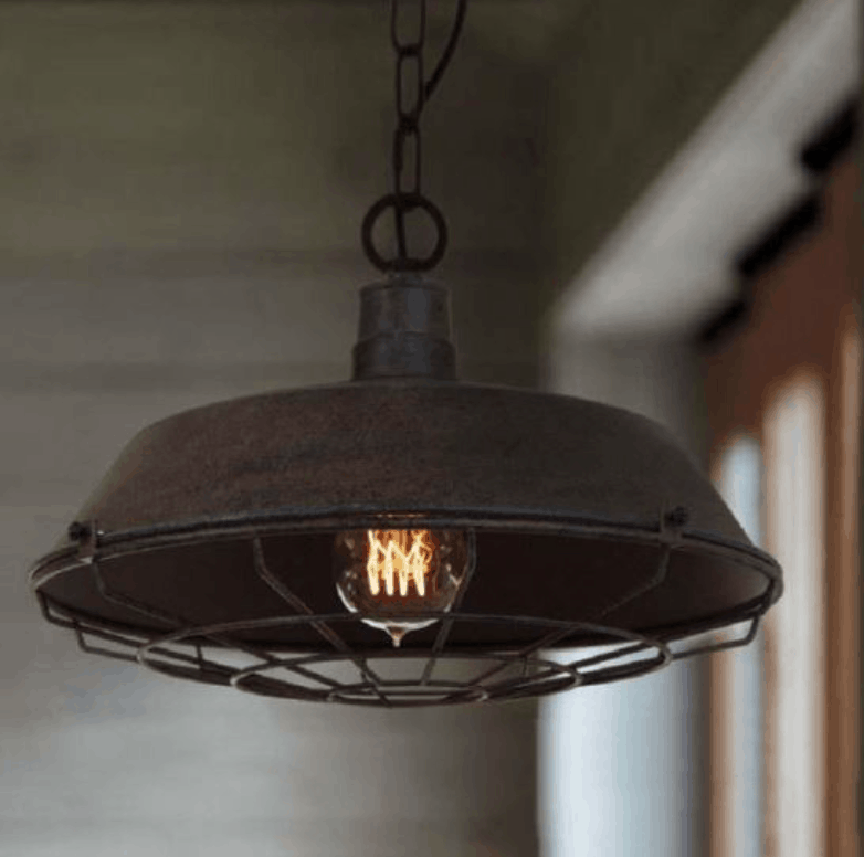 Knut Pot Cover Web Caged Hanging Lamp