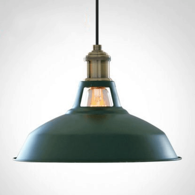 elsa smooth metallic pot lid pendant lamp