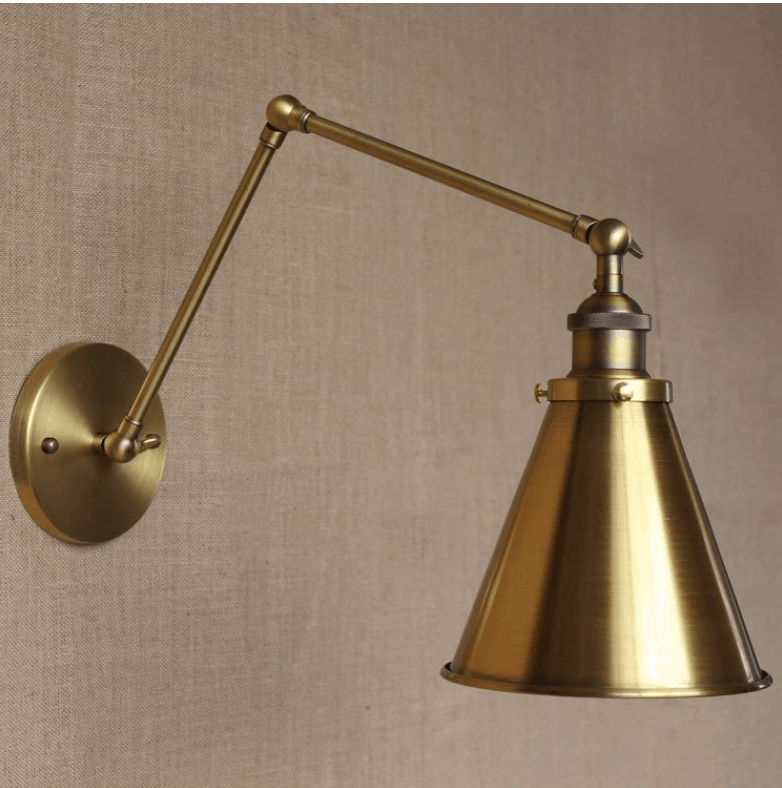 bronberg vintage twin arm wall lamp