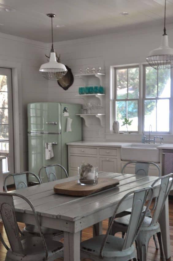 retro kitchen pendant cage lamp