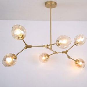 Roluudo-Molecular-Lamp-6-bulb-model-gold