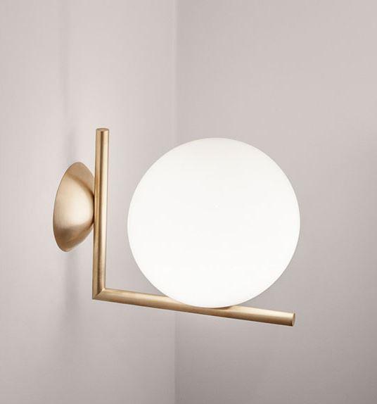 Incano Golden Wand Ball Wall Lamp