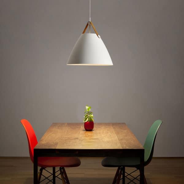 ... Labeeno Leather Strap Pendant Lamp Single Dining Lamp ...