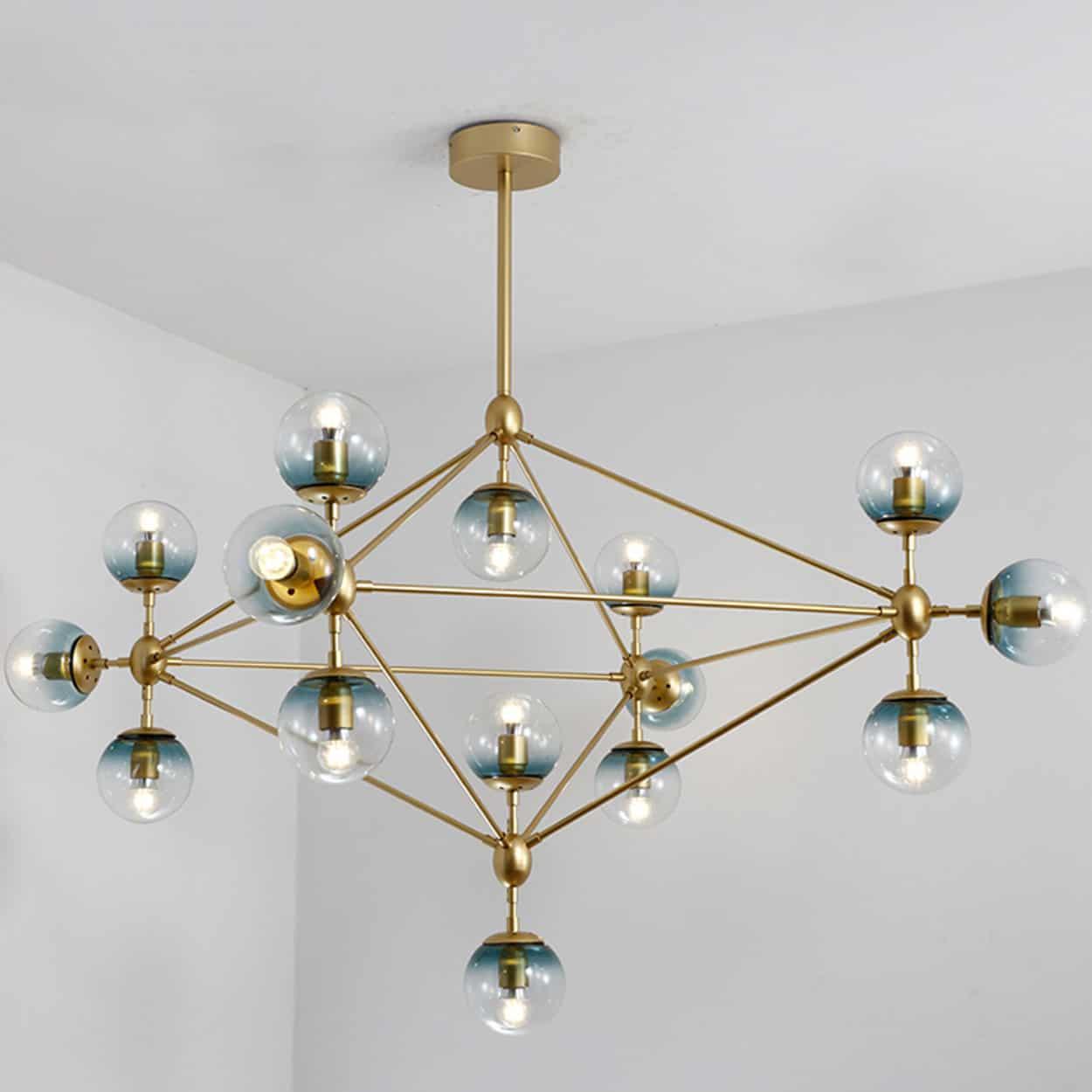 Elovold glass ball atomic pendant lamp