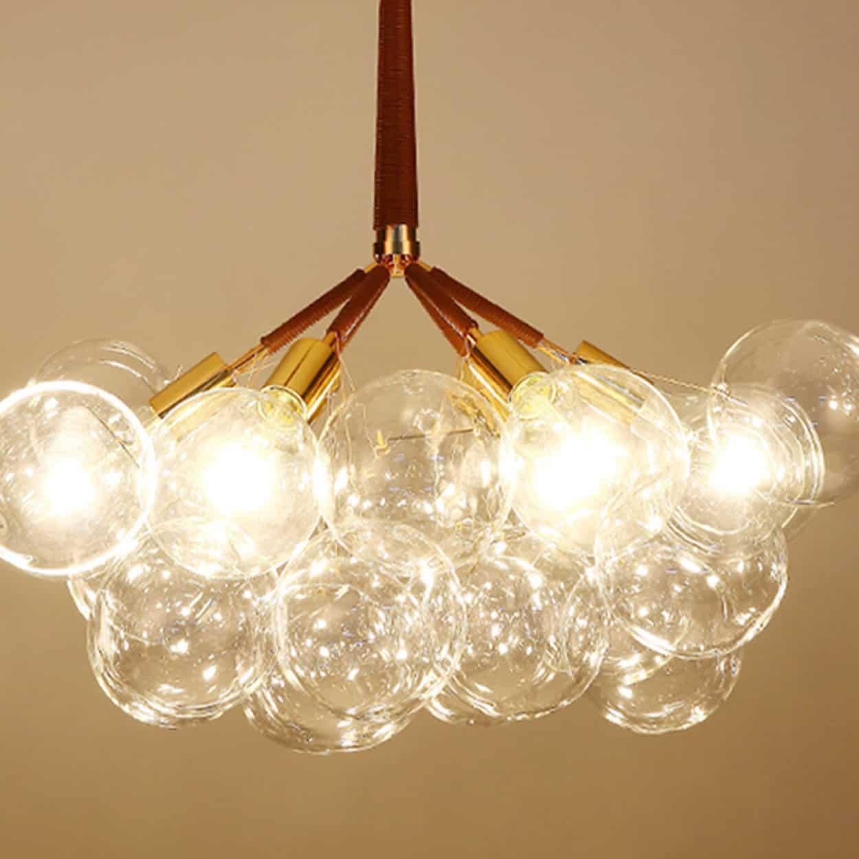 Doorana modern glass balls bubble chandelier lamp